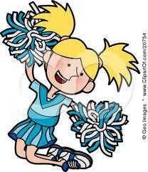 cartoon cheerleader.