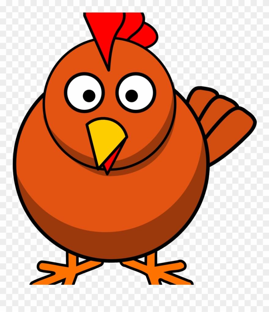 Cartoon Chicken Transparent Background Clipart (#4446655).