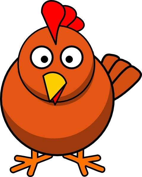 Chicken Cartoon clip art Free vector in Open office drawing svg.
