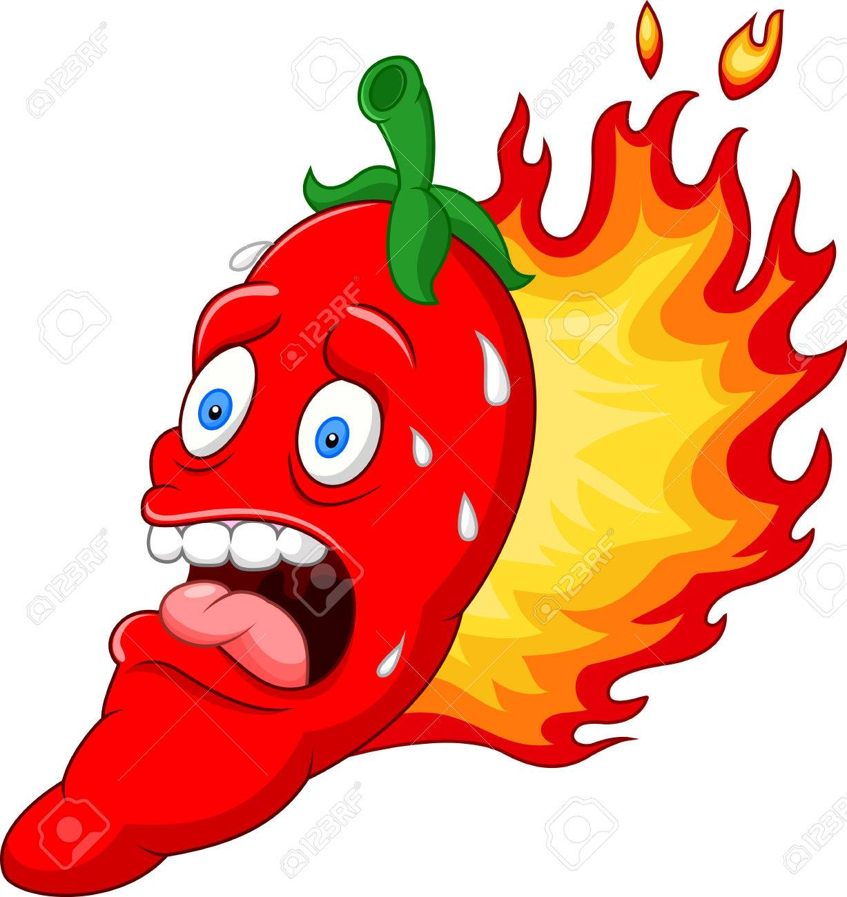 illustration of cartoon chili pepper.