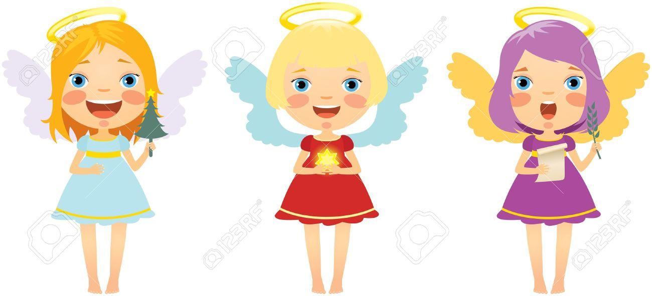 fun girl angel clipart #8