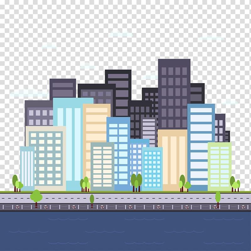 Cartoon, Cartoon city transparent background PNG clipart.