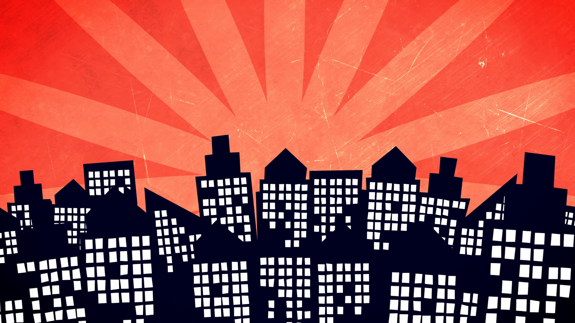 cartoon city buildings.