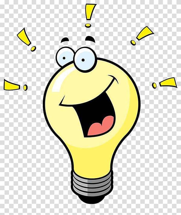 Incandescent light bulb Electric light , Yellow light bulb cartoon.
