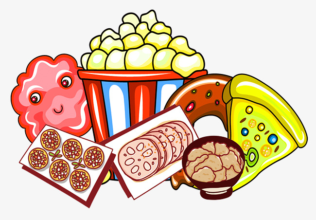 Cartoon Snack Food, Food Clipart, Cartoon, Hand PNG Transparent.