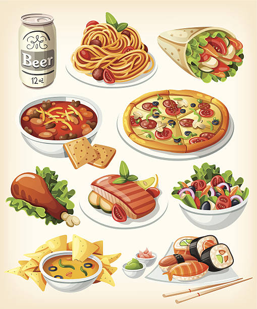 Best Cartoon Food And Drink Illustrations, Royalty.