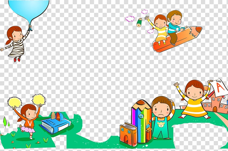 Pencil Drawing, Cartoon children book pencil decoration.