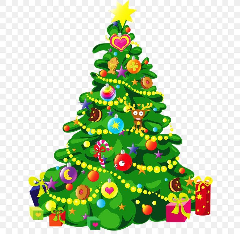 Christmas Tree Cartoon Clip Art, PNG, 636x800px, Christmas.