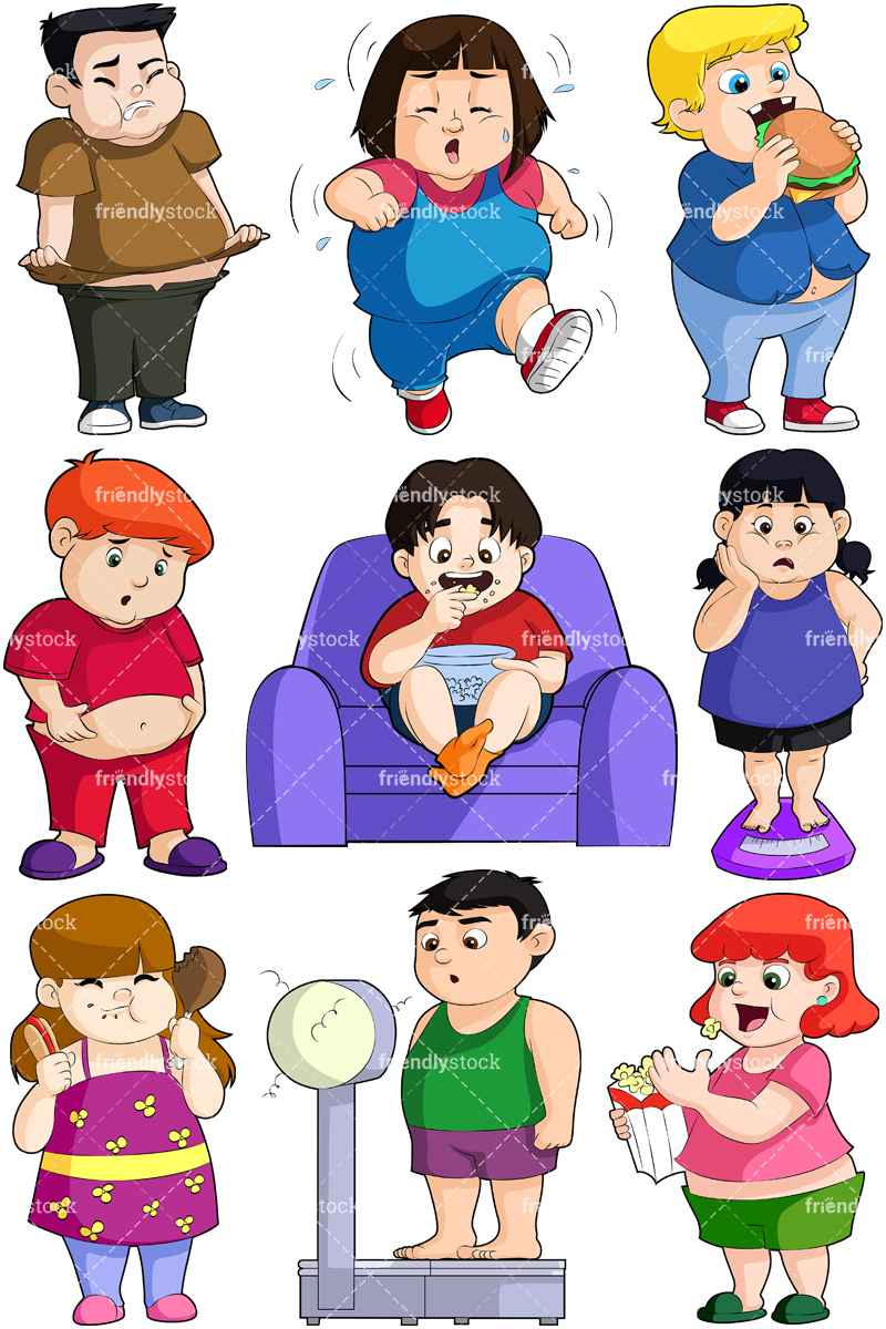 Overweight Kids Collection.
