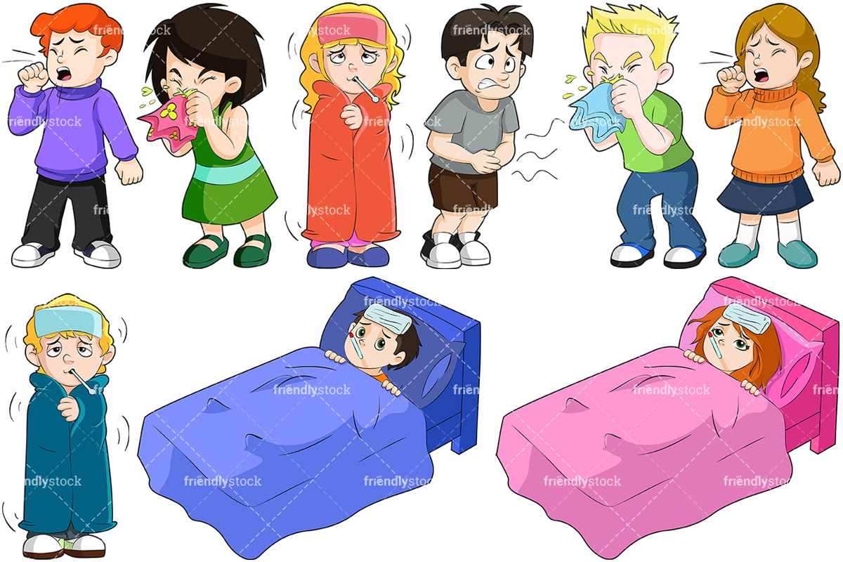 Kids Feeling Sick Collection.