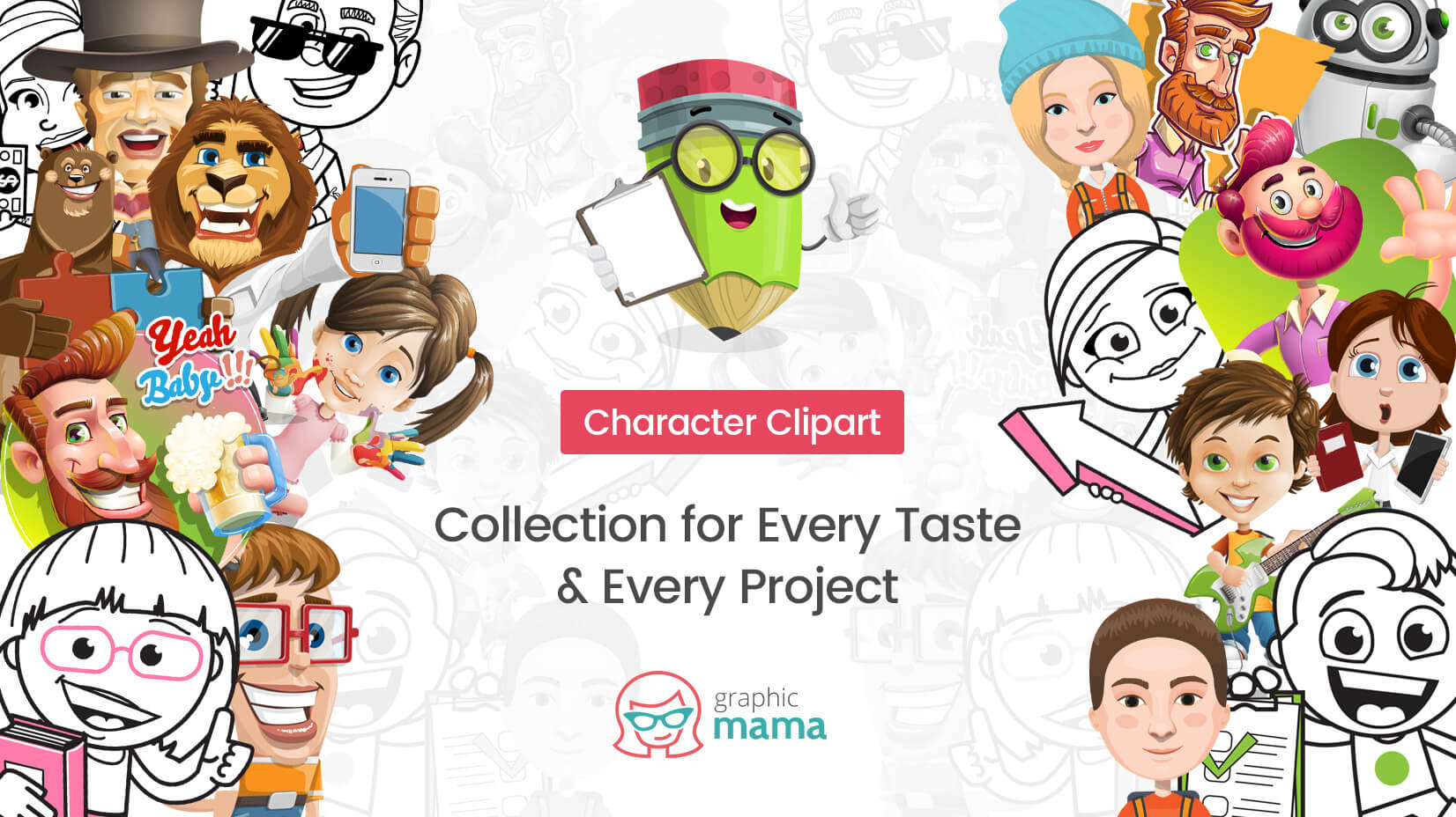 Character Clipart: a Collection for Every Taste & Every Project.