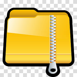 D Cartoon Icons III, Zip, yellow ZIP file icon transparent.