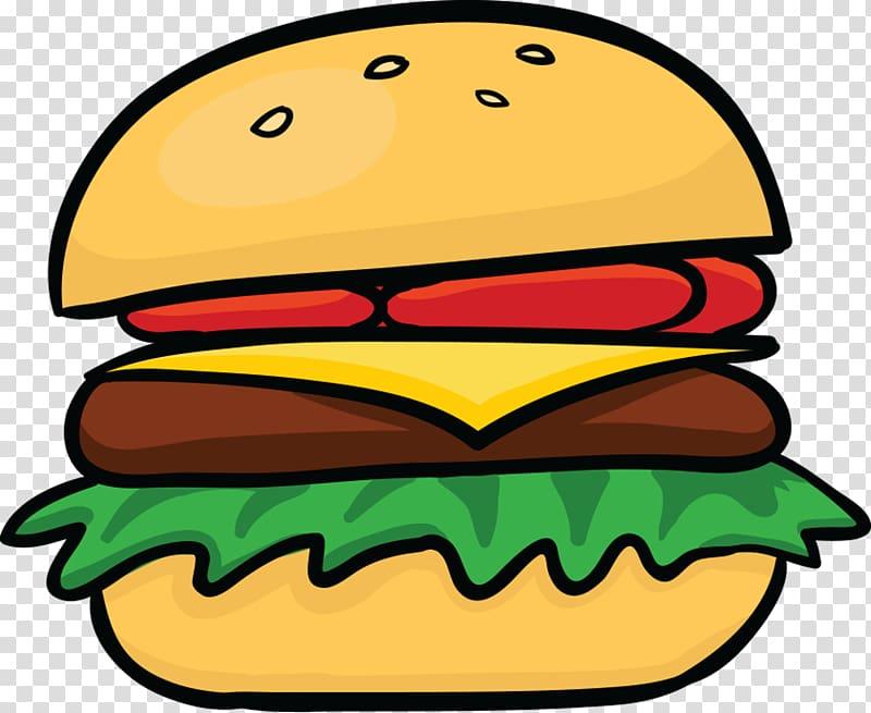 Cheese burger illustration, Hamburger Cheeseburger Hot dog.