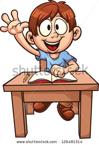 Cartoon School Boy Vector Clip Art Stock Vector 126481514.