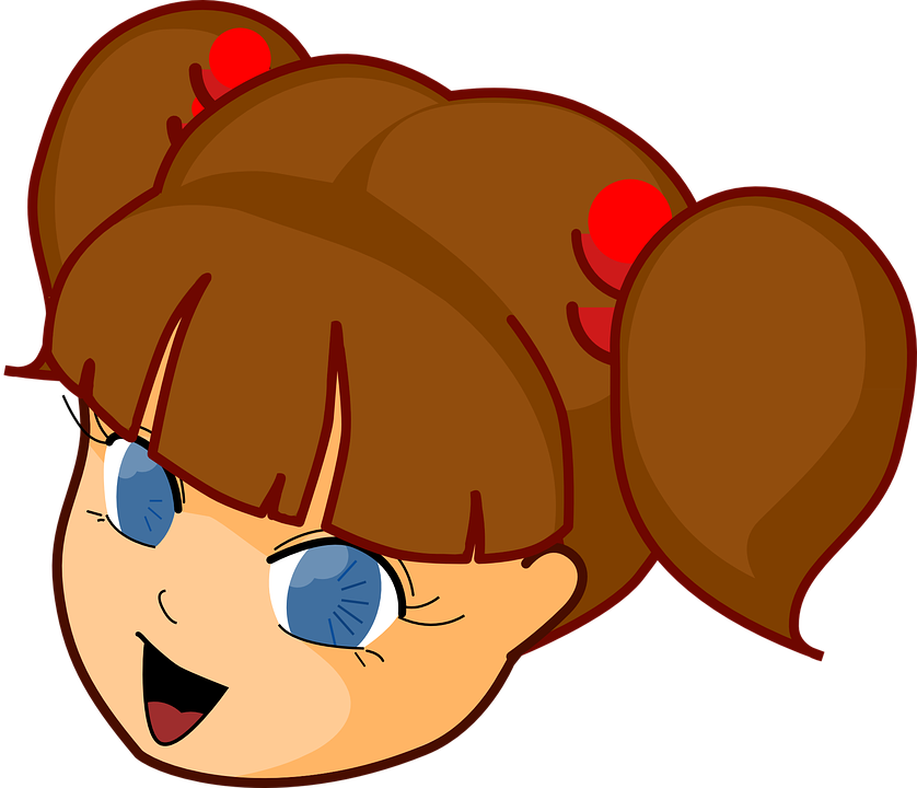 Free vector graphic: Girl, Head, Manga, Brown Hair.