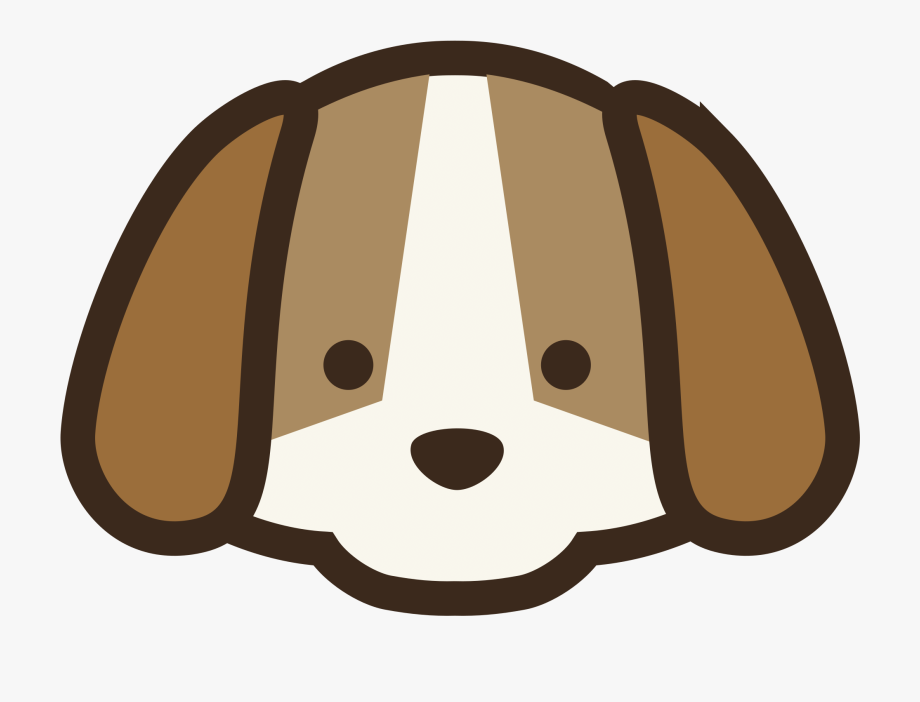 Cute Dog Face Cartoon Clipart , Png Download.