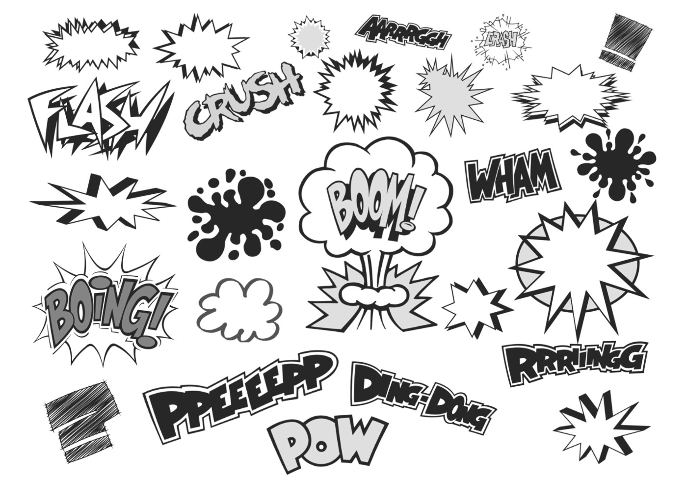 Comic Bubble Vector and Text Vector Pack.