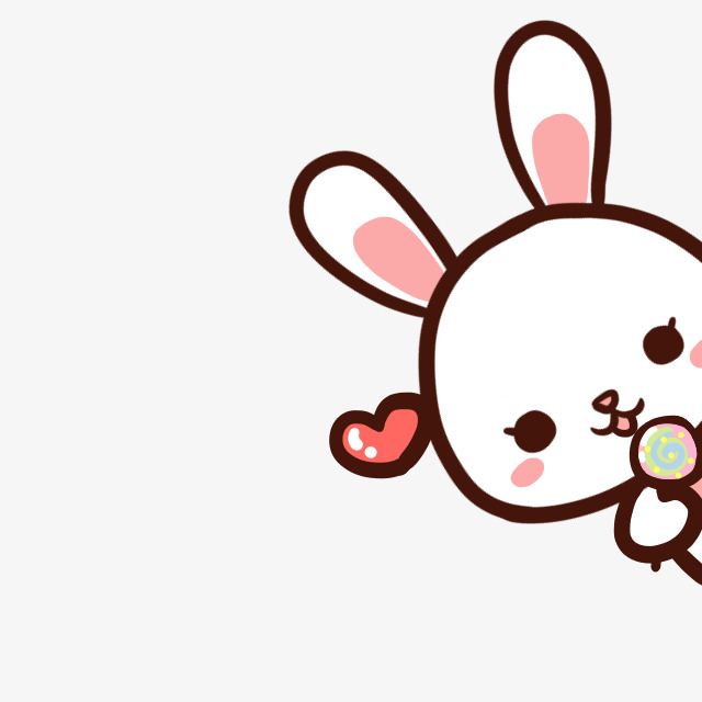 Cute Cartoon Bunny, Cute Clipart, Cartoon Clipart, Bunny Clipart PNG.