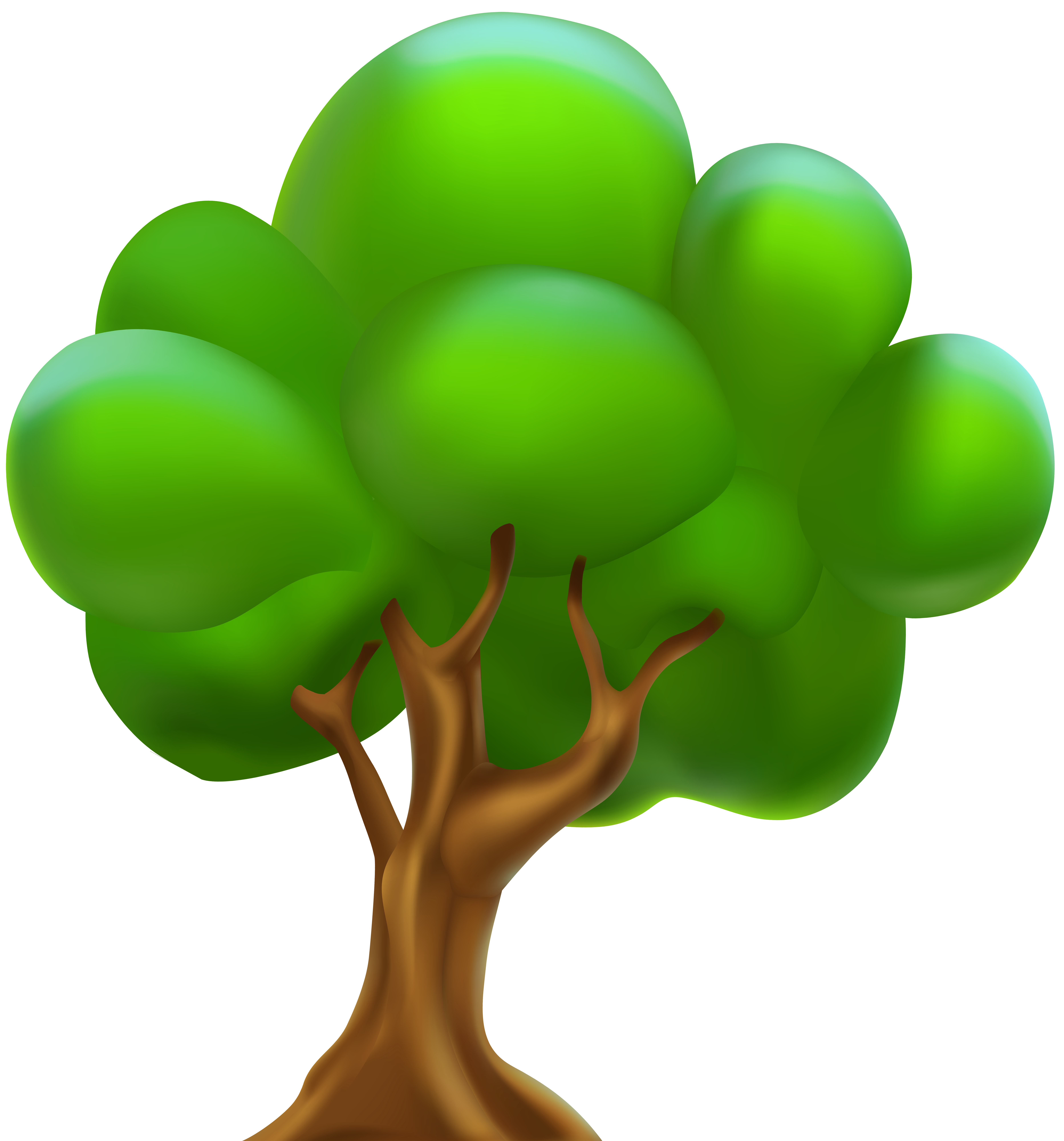 Cartoon Tree PNG Clipart.