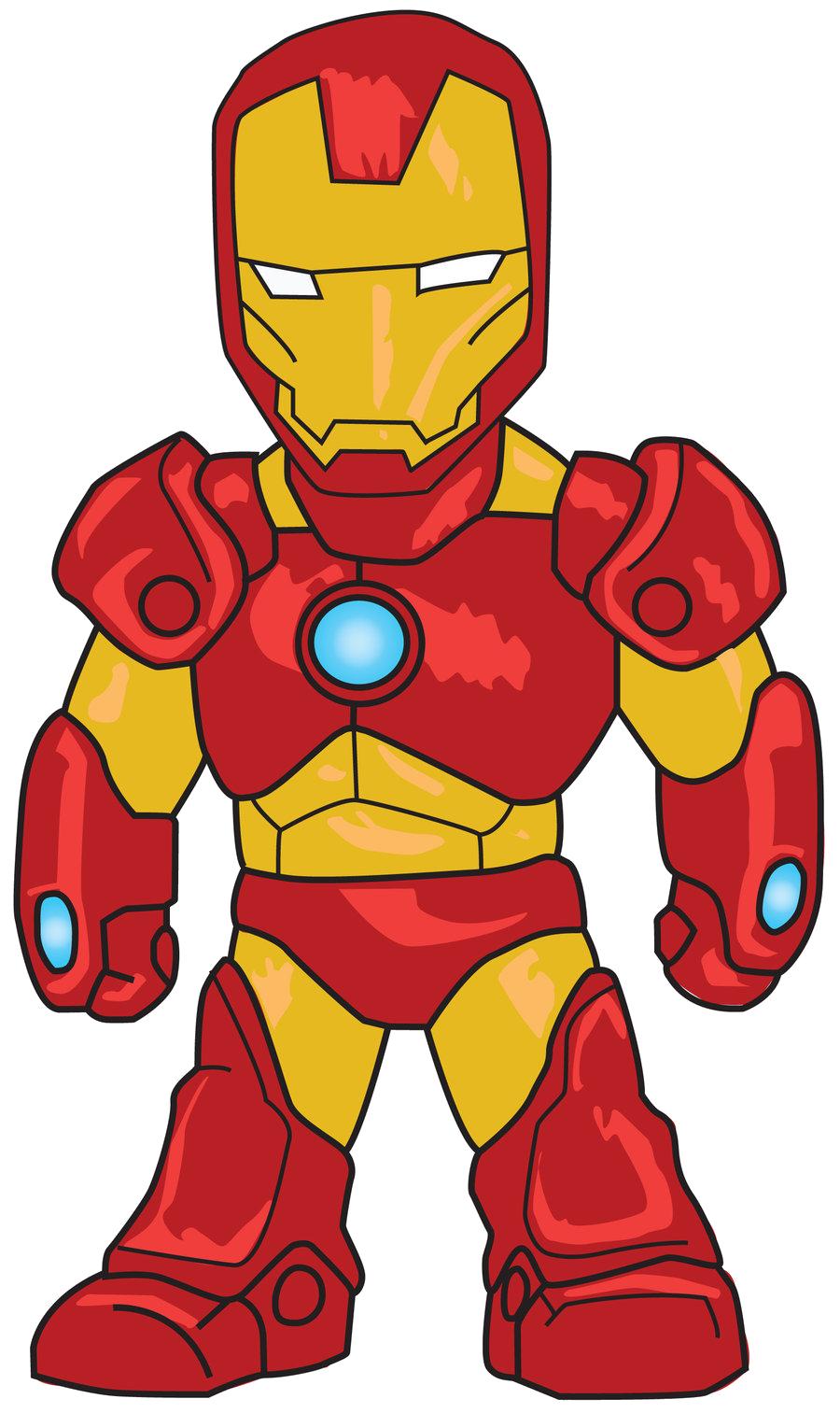 Cartoon Iron Man Clip Art Png.