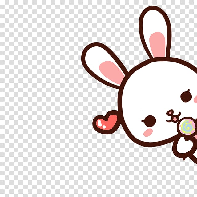 Rabbit sticker, Cartoon Cuteness, Cute cartoon bunny.