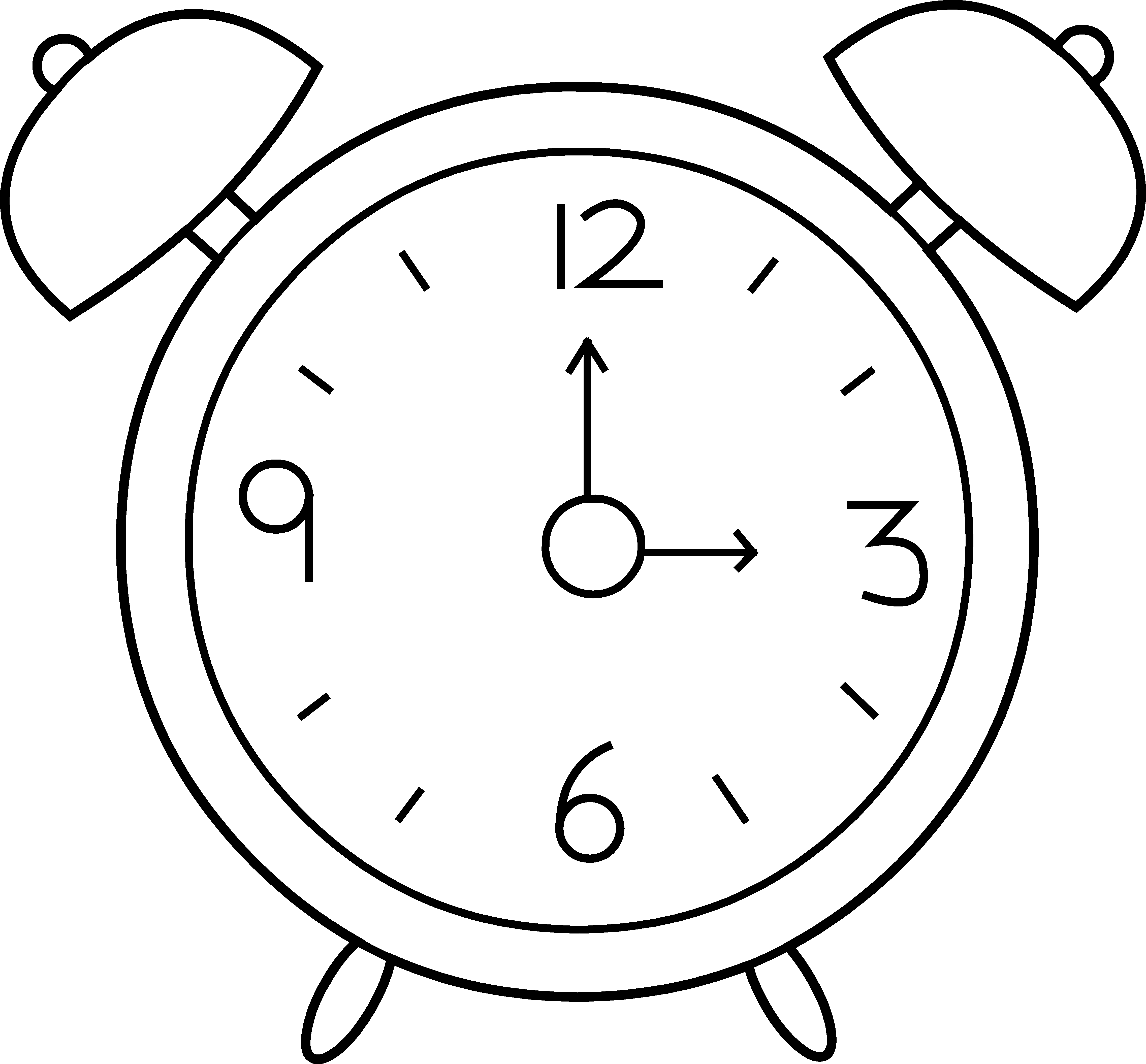 Clip Art Cartoon Clock Clipart.