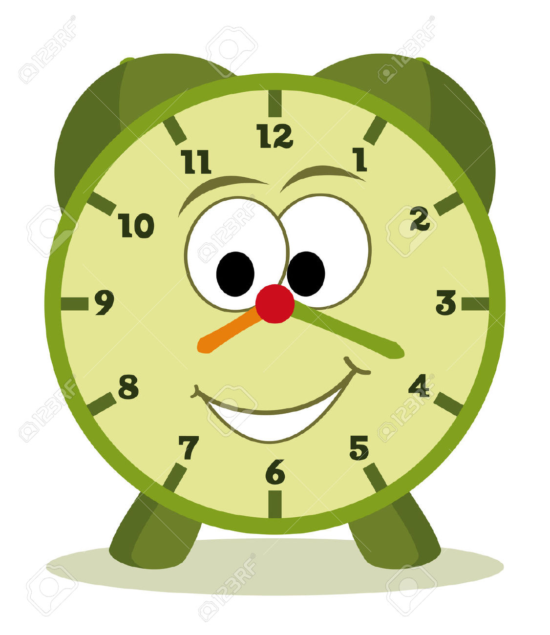 Funny Cartoon Clock For Kids Royalty Free Cliparts, Vectors, And.