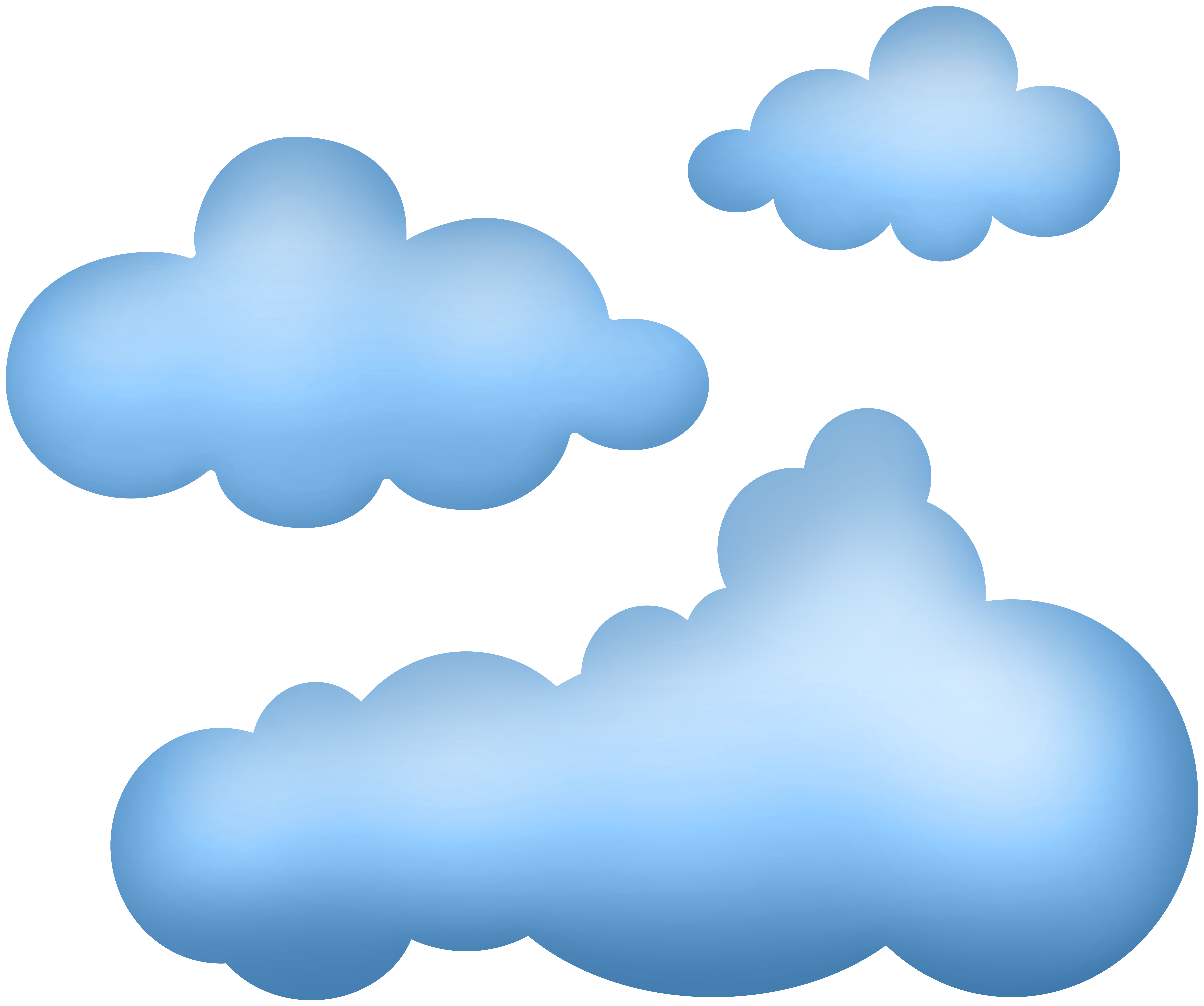 Cartoon Clouds PNG Clip Art.