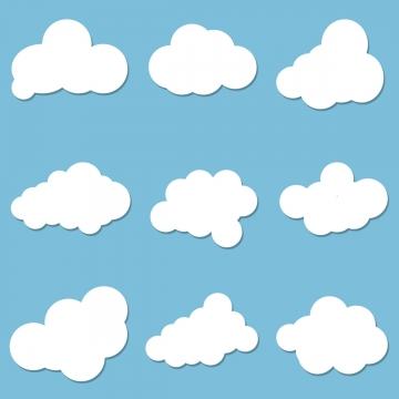 Cartoon Cloud PNG Images.
