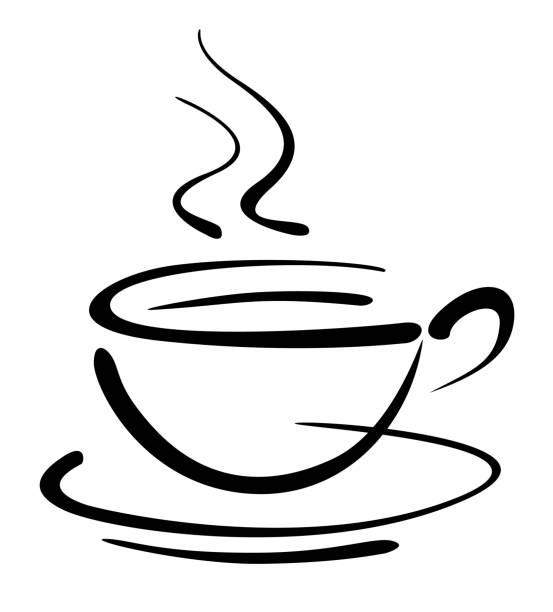 Top Cartoon Of Steaming Cup Coffee Clip Art Vector Graphics And.