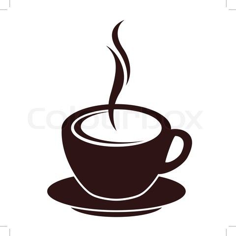 cartoon images of coffee cup.