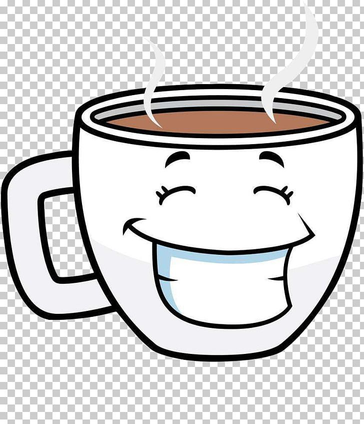 Coffee Cup Tea Cafe Cartoon PNG, Clipart, Black And White.