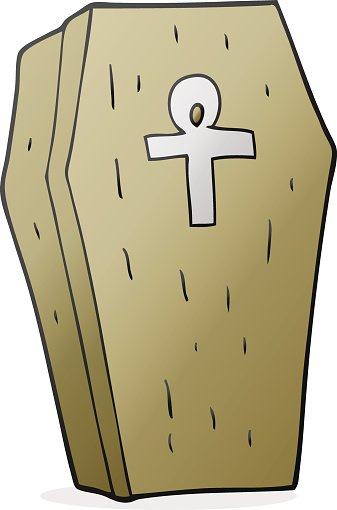 Cartoon Spooky Coffin premium clipart.