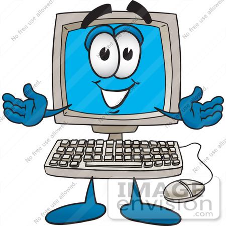 Computer Clipart Cartoon.
