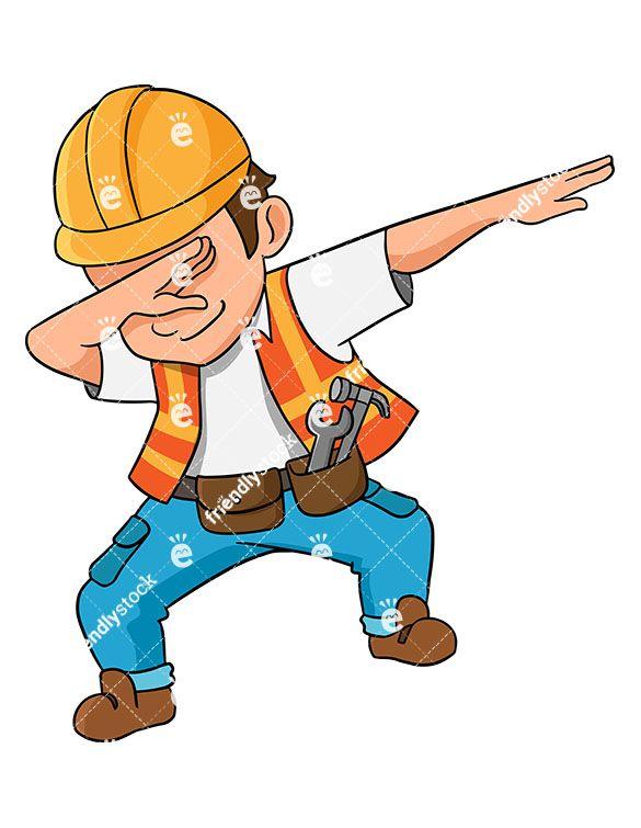 Dabbing Construction Worker.