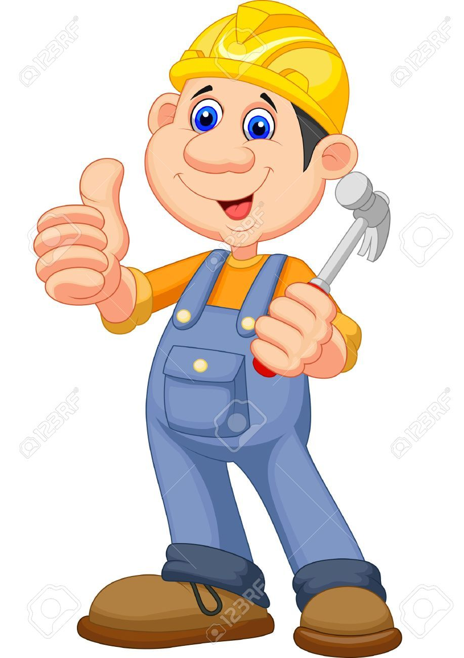 Cartoon construction worker clipart » Clipart Portal.