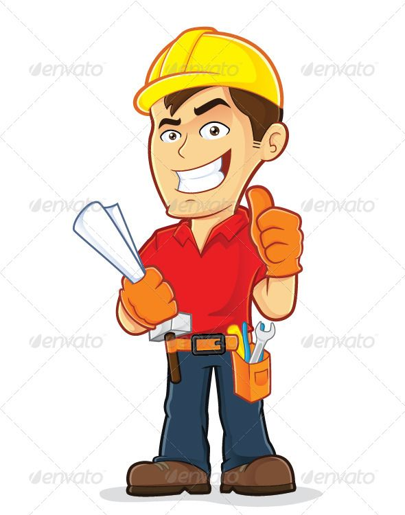 Construction Worker by sundatoon Clipart picture of a construction.