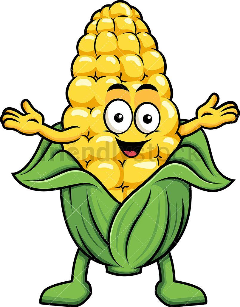 Happy Corn Mascot.