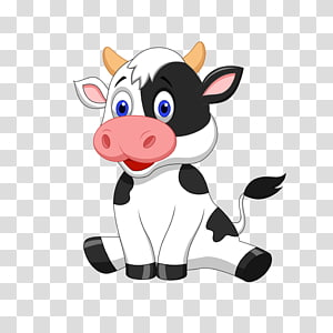 Cartoon Cow transparent background PNG cliparts free.