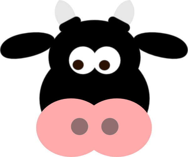 Free Cartoon Cow Face, Download Free Clip Art, Free Clip Art.