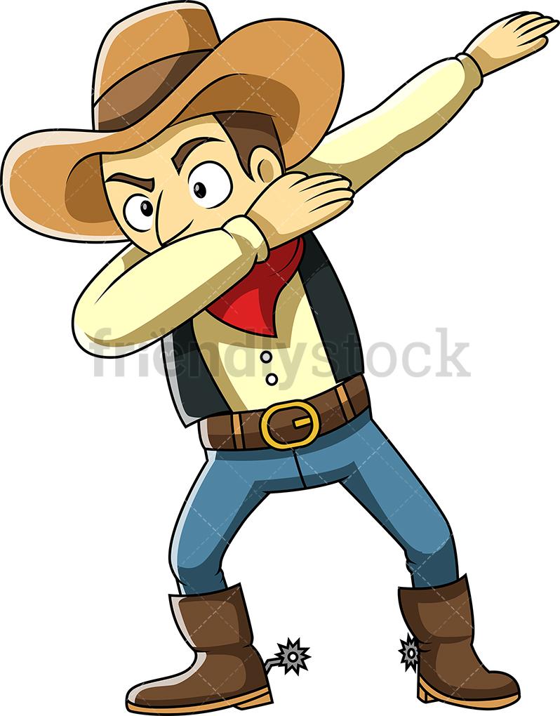 A Dabbing Cowboy.