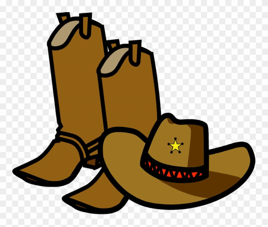 Cowboy Boots And Hat Cartoon Clipart (#3401427).