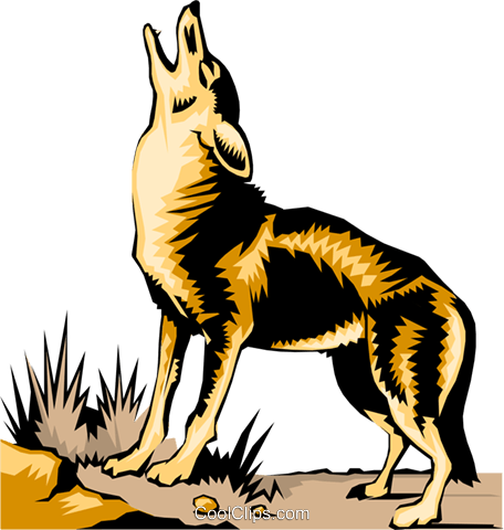 Howling Coyote Clipart.