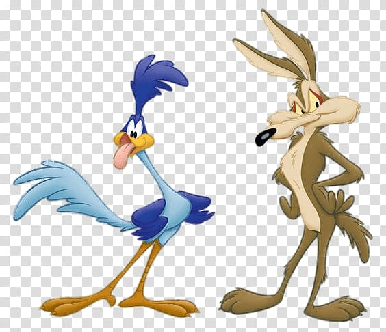 Willie Coyote and Road Runner illustration, Road Runner and Wile E.