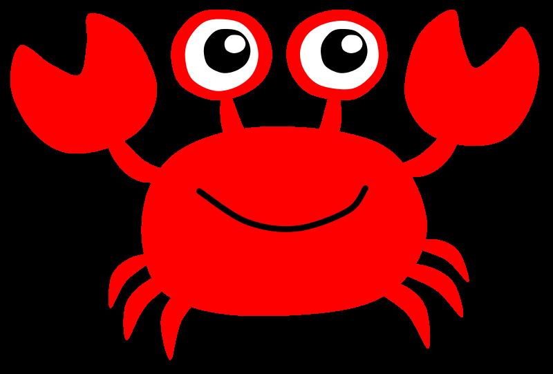 Crab Clip Art Cartoon.