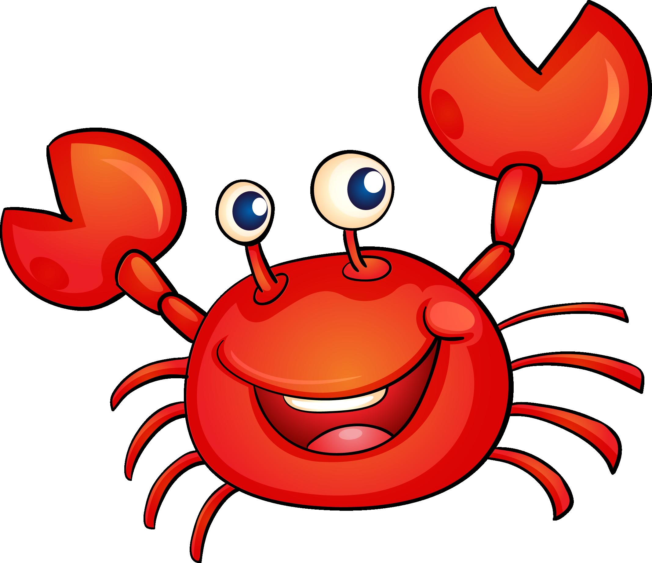 Crab Cartoon Illustration.