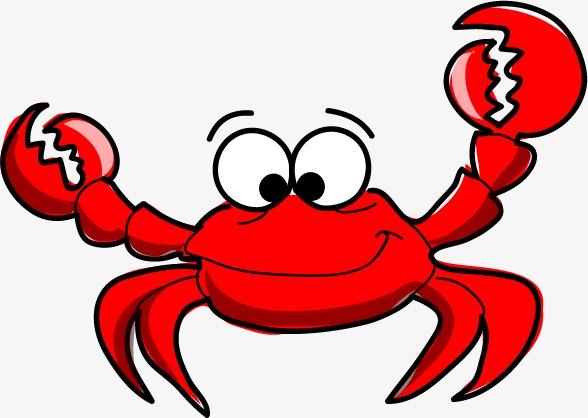 Cartoon Crab, Cartoon Clipart, Crab, Red Crab PNG Transparent Image.