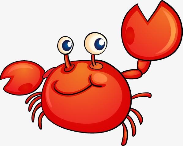 Crab, Hand Painted Crab, Hand Painted Crabs, Orange Crab PNG.