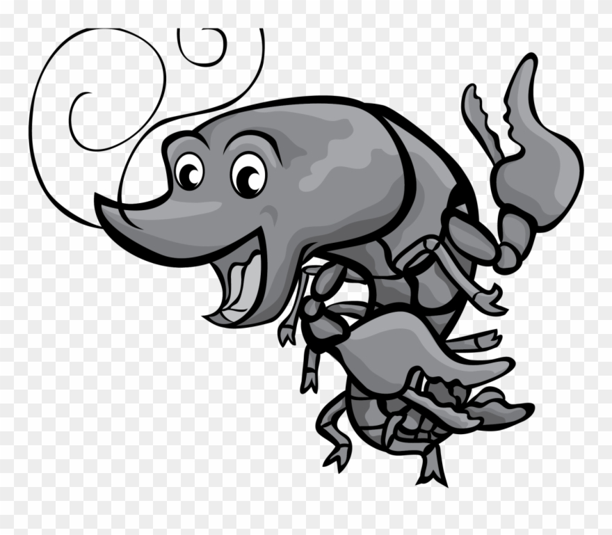 Cartoon Crawfish Clip Art Free Boil Images Vector Grey.