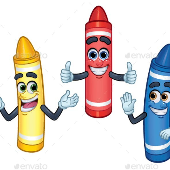 Cartoon Crayon Graphics, Designs & Template from GraphicRiver.